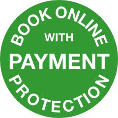 Book online with payment protection