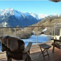 Chalet ground loup balcony
