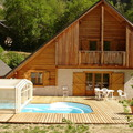 Chalet terrace and pool