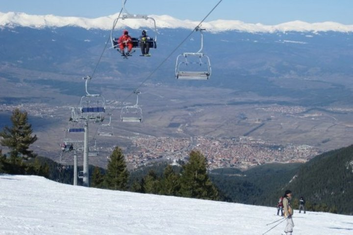 Bansko seen from the ski area
