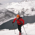 ski touring out the back door of the chalet du saut tignes val d'isere