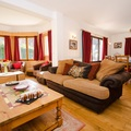 Spacious dining and sitting room   ideal for relaxing after a hard days skiing!