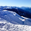 View from the Arpette chair lift in Les Arcs