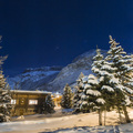 Chalet in val disere by night
