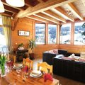 Catered chalet aigle des neiges in les gets   living area
