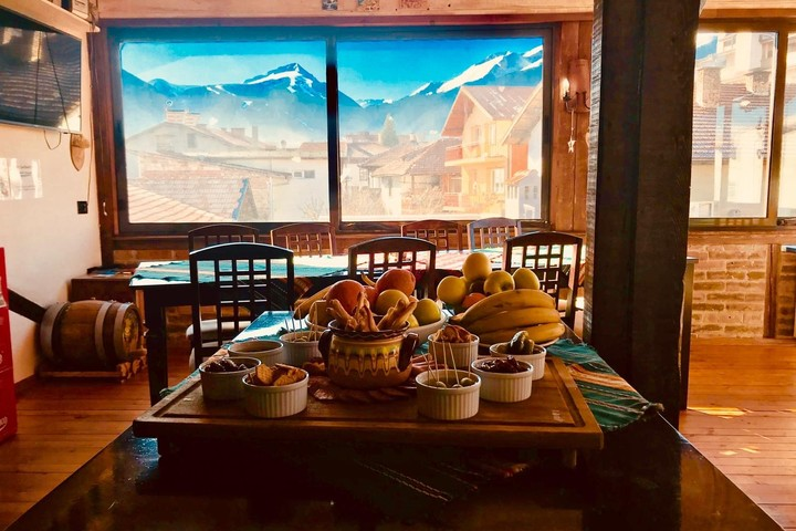 Mountain views from the breakfast/dining room